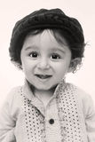 Portrait. happy little boy wearing cultural dress and hat Royalty Free Stock Photography