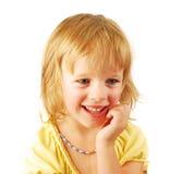 Portrait of a happy little gir Stock Photos