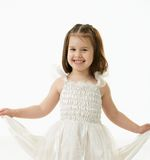 Portrait of happy little girl Royalty Free Stock Photos