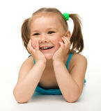 Portrait of a happy little girl Royalty Free Stock Photos