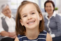 Portrait of happy little girl Stock Photography