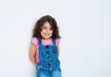 Portrait of a happy, little girl. Portrait of a happy, positive, smiling, little girl Stock Image