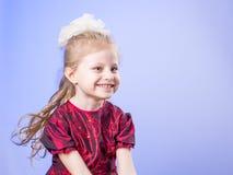 Portrait of happy little girl Stock Photos