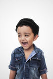 Portrait. happy little south asian boy wearing cultural hat Stock Photo