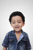 Portrait. happy little south asian boy wearing cultural hat Royalty Free Stock Image