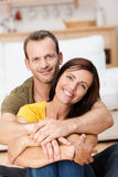 Portrait of a happy loving adult couple Stock Image