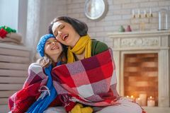 Portrait of happy loving family royalty free stock images