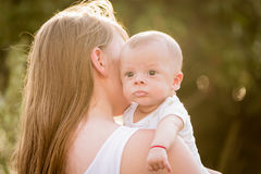 Portrait of happy loving mother and her baby Royalty Free Stock Image