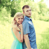 Portrait happy loving young couple together Stock Photo
