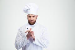 Portrait of a happy male chef cook Stock Photo