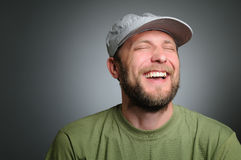 Portrait of a really happy man Royalty Free Stock Images