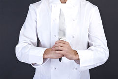 Portrait of happy man in cook uniform looking at camera Stock Photography