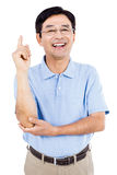 Portrait of happy man gesturing Stock Images