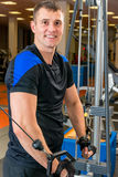Portrait of a happy man   in the gym Royalty Free Stock Photography