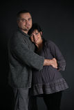 Portrait of happy man and pregnant woman royalty free stock image
