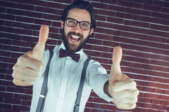 Portrait of happy man showing thumbs up Royalty Free Stock Photography