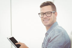 Portrait of happy man wearing eyeglasses Royalty Free Stock Photography