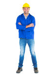 Portrait of happy manual worker standing arms crossed Royalty Free Stock Photography