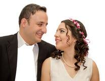 Portrait of happy  married couple Stock Photo
