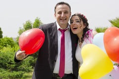 Portrait of happy  married couple Royalty Free Stock Photography