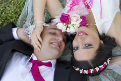 Portrait of happy  married couple Stock Photography
