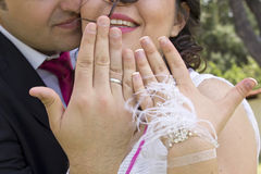 Portrait of happy  married couple Royalty Free Stock Image