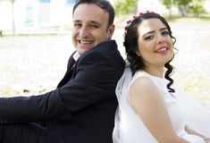 Portrait of happy  married couple Royalty Free Stock Photo