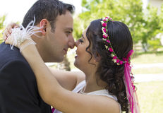 Portrait of happy  married couple Stock Photos