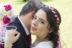 Portrait of happy  married couple Royalty Free Stock Photos