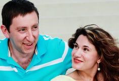 Portrait of happy mature couple Stock Images