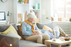Loving Senior Couple Relaxing stock image
