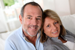 Portrait of happy mature couple at home Royalty Free Stock Images