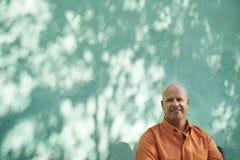 Portrait of happy mature hispanic man royalty free stock photography