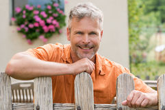 Portrait Of Happy Mature Man royalty free stock images