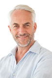 Portrait of a happy mature man. Over white background royalty free stock photos