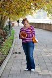 Portrait of a happy mature woman Stock Image