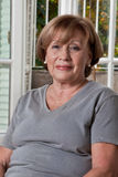 Portrait of a happy Mature Woman royalty free stock image