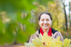 Portrait of happy mature woman Royalty Free Stock Photography