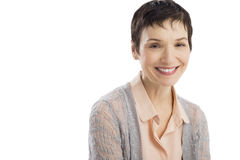 Portrait Of Happy Mature Woman Royalty Free Stock Image