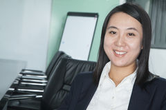 Portrait of Happy Mid Adult Businesswoman Royalty Free Stock Photos