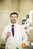 Happy dentist Royalty Free Stock Photography