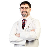 Portrait of happy middle-aged dentist Royalty Free Stock Photos