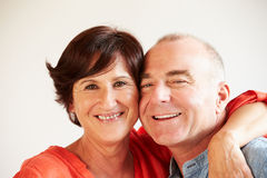 Portrait Of Happy Middle Aged Hispanic Couple Stock Image