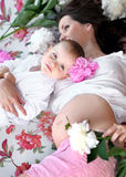 Portrait of a happy mother Royalty Free Stock Photos