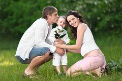 Portrait of a happy mother and baby Royalty Free Stock Photography