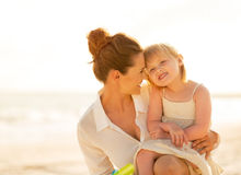 Portrait of happy mother and baby girl Stock Images