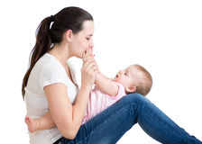 Portrait of happy mother and baby Stock Photography