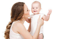 Portrait of happy mother with baby Royalty Free Stock Photo