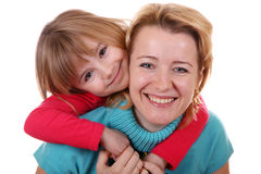 Portrait of happy mother and daughter Stock Photography