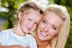 Portrait of happy  mother and daughter Royalty Free Stock Photos